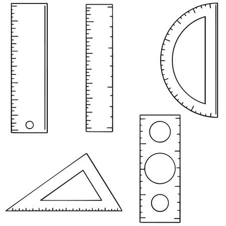 Set of ruler.