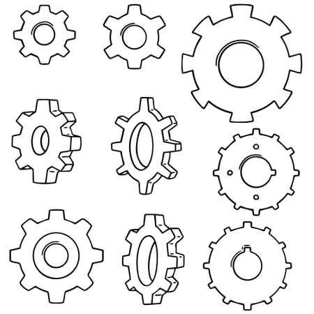 Vector set of gears.