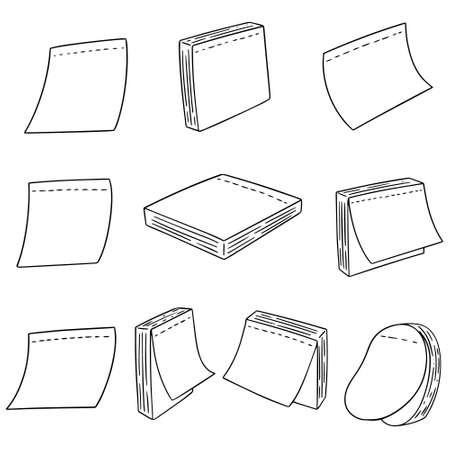 Vector set of memo note Illusztráció