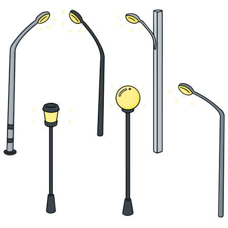Vector set of outdoor lamp