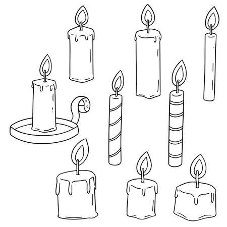 Vector set of candle.