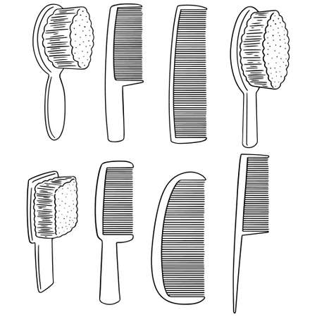 A vector set of comb on plain background.