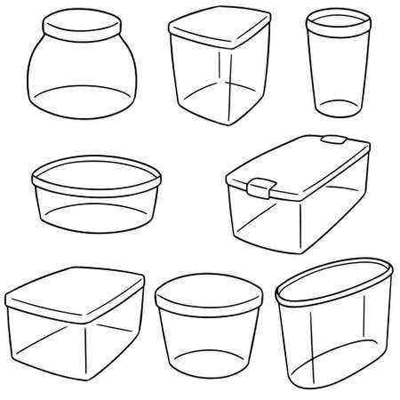 Set of plastic container illustration.