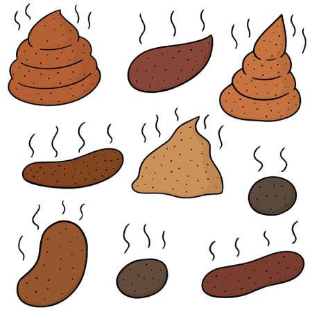 Set of poop illustration. Illustration