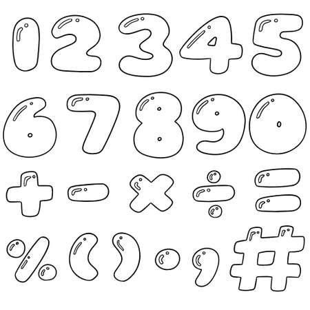 vector set of number