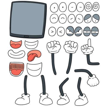 A vector set of tablet cartoon