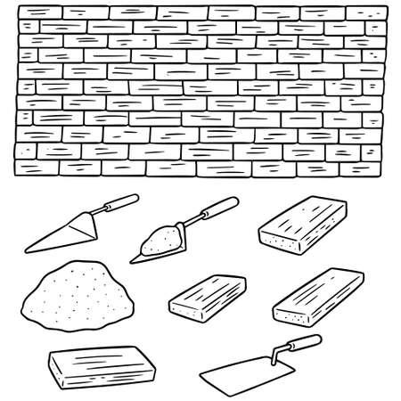 vector set of bricks.