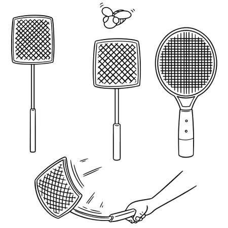 vector set of flyswatters.