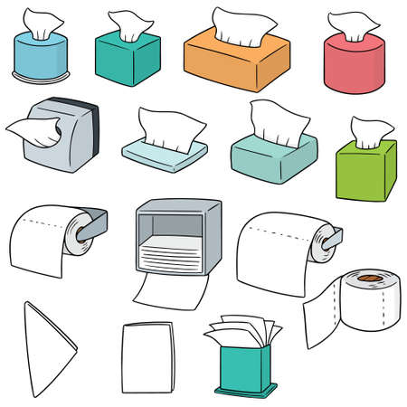 vector set of tissue paper