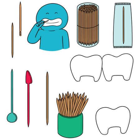 vector set of toothpick Reklamní fotografie - 92675871
