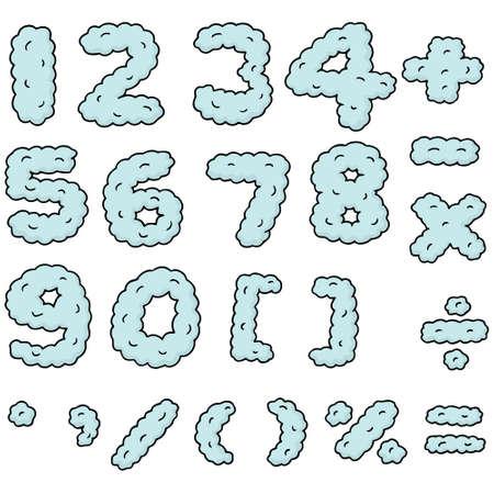 数のベクトルセット  イラスト・ベクター素材