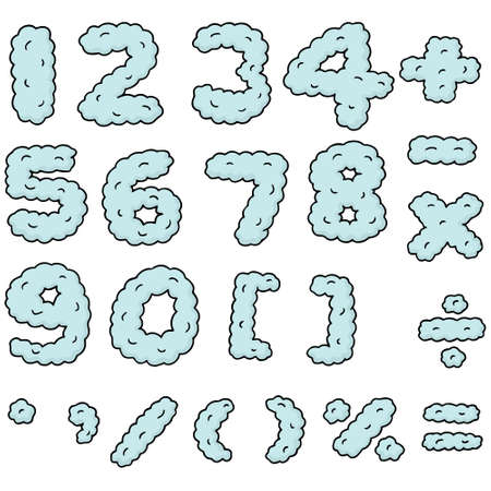 Vector Set Of Mathematical Symbols Plus And Minus With A Fun