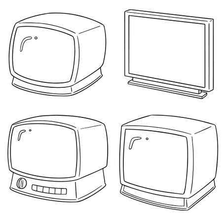 vector set of television Çizim