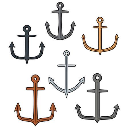 vector set of anchor. Illustration