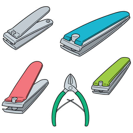 vector set of nail clipper.