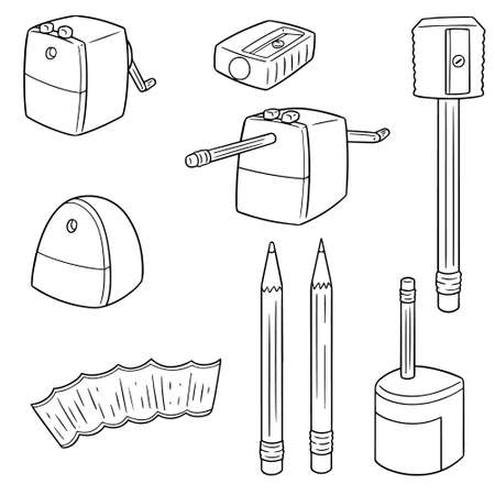 vector set of pencil sharpener.