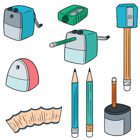 vector set of pencil sharpener.