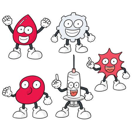 vector set of blood