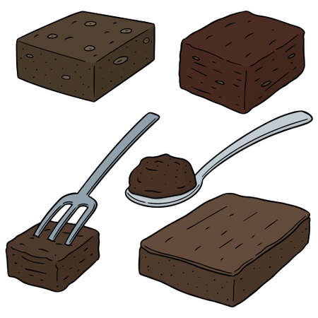 vector set of brownie Illustration
