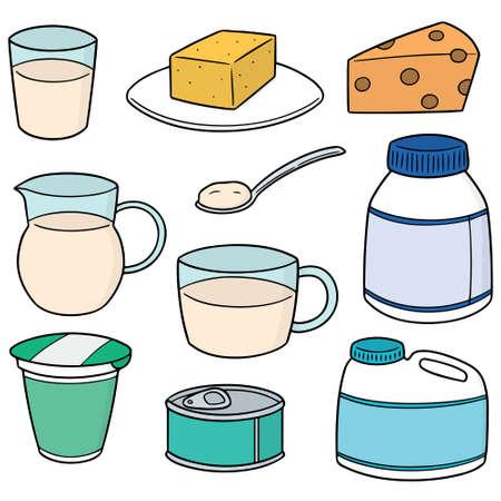 vector set of milk product Illusztráció