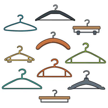Set of hangers Ilustração Vetorial