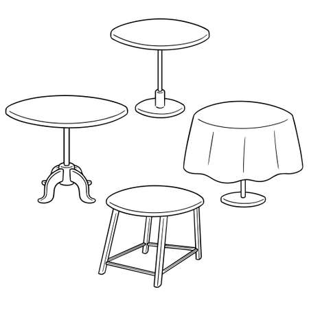 Vector set of table.
