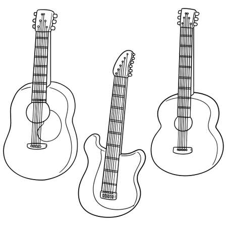 vector set of guitar