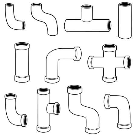 vector set of pipe Illustration