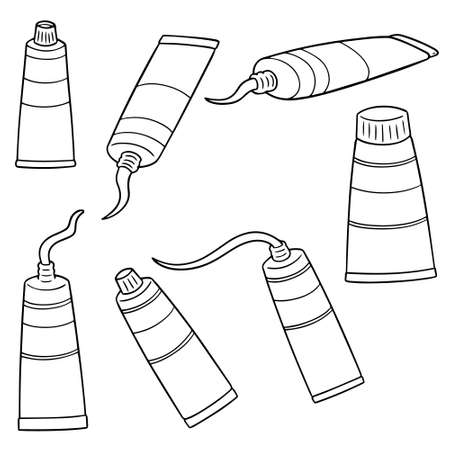 vector set of color tube Illustration