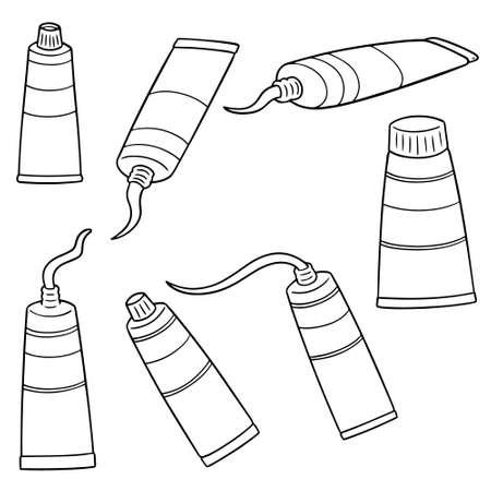 vector set of color tube Illustration