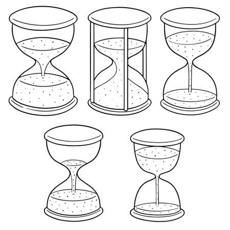 Vector set of hourglass 일러스트