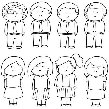 Set of people illustration.