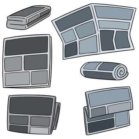 vector set of newspaper