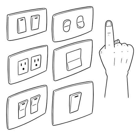 Vector set of electric switch Illusztráció