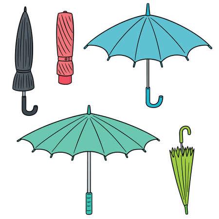 vector set of umbrella