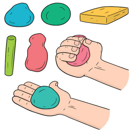 Vector set of clay for kid. Illustration