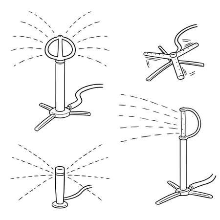 vector set of sprinklers