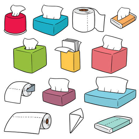 vector set of tissue papers
