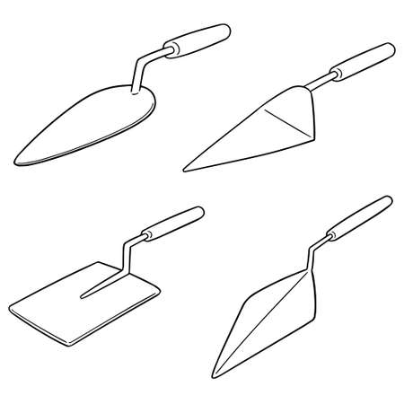 vector set of trowels