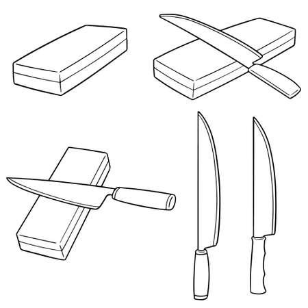 vector set of whetstones Vettoriali
