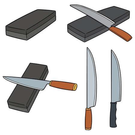 vector set of whetstones Illustration