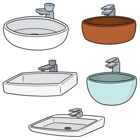 vector set of sink Stock Illustratie