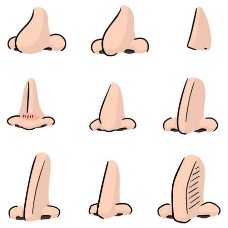 vector set of nose Illustration