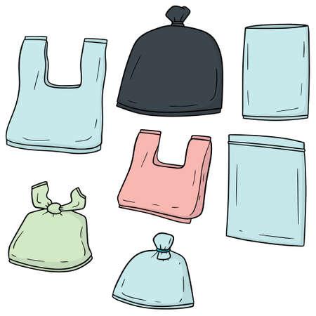 벡터 비닐 봉투 세트