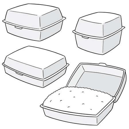 Vector set of foam box