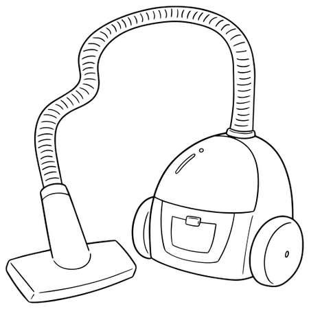 vector of vacuum cleaner Çizim