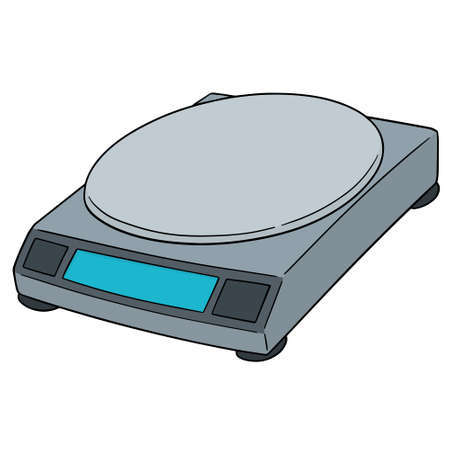 vector of weighing machine Illustration