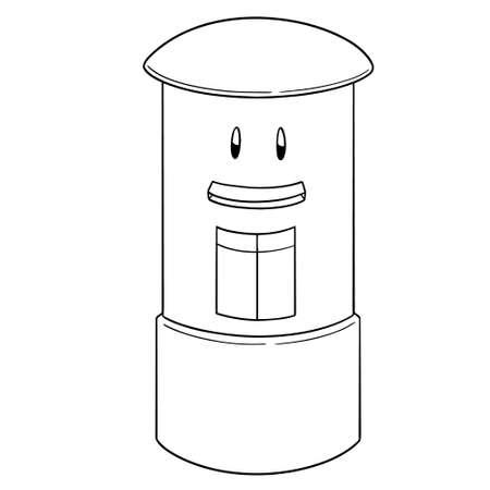 Vector of postbox cartoon