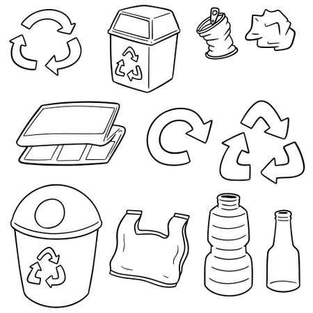 Vektor-Satz von Müll Müll Vektorgrafik
