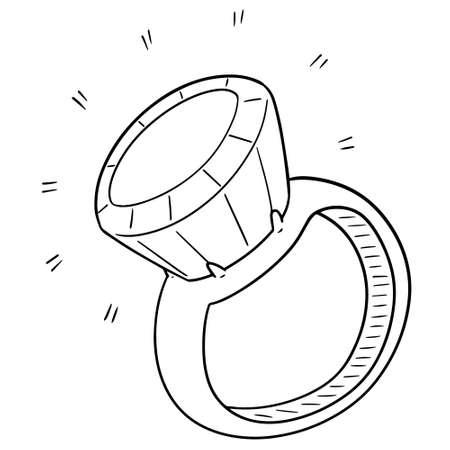 Vector  of wedding ring Illustration